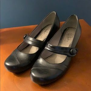 Gently worn low heel Mary Janes